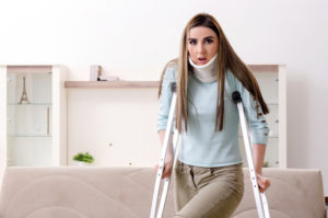 Lady joyfully tumbles down stairs to abstain from stepping on cat