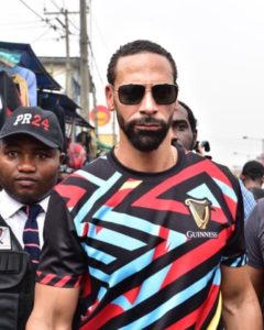 See Photos from Rio Ferdinand's Visit to Nigeria