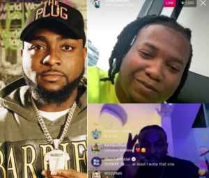 Davido reacts after Kiddominant and Peruzzi revealed they wrote most of his hit songs